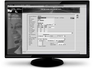 Interface du logiciel Serti